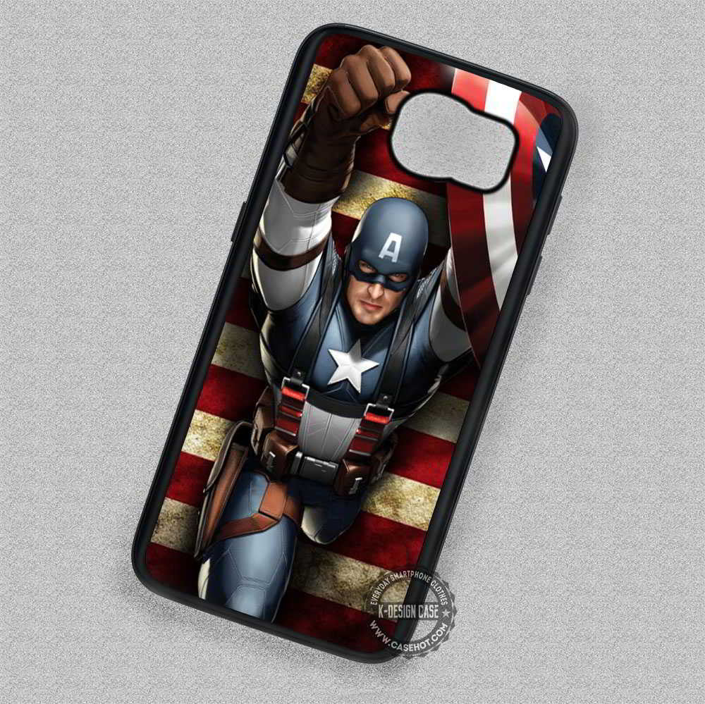 newest b8d06 7454c Winter Soldier Captain America Marvel - Samsung Galaxy S7 S6 S5 Note ...