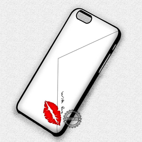 With Love Envelope White Kiss - iPhone 7 6s 5c 4s SE Cases & Covers