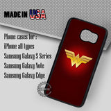 Wonder Woman Logo - Samsung Galaxy S7 S6 S5 Note 5 Cases & Covers
