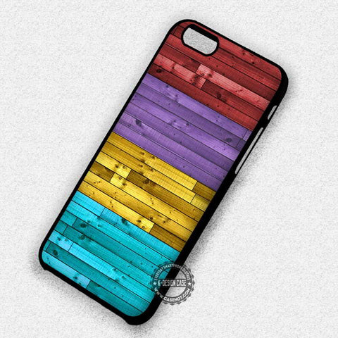 Wood Colorful Red Purple Yellow - iPhone 7 6s 5c 4s SE Cases & Covers