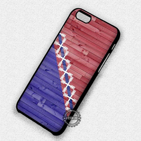 Wood Print with Geometric Pattern - iPhone 7 6s 5c 4s SE Cases & Covers