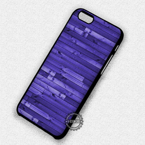 Wood Texture Purple Realistic - iPhone 7 6s 5c 4s SE Cases & Covers