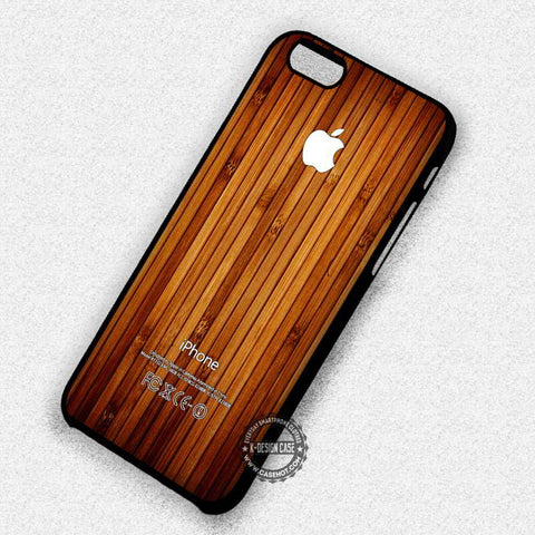Wood Print Apple Logo Texture Art - iPhone 7 6s 5c 4s SE Cases & Covers