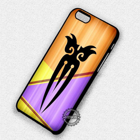 Wood Print with Tribal Aztec Purple Yellow Art - iPhone 7 6s 5c 4s SE Cases & CoversV