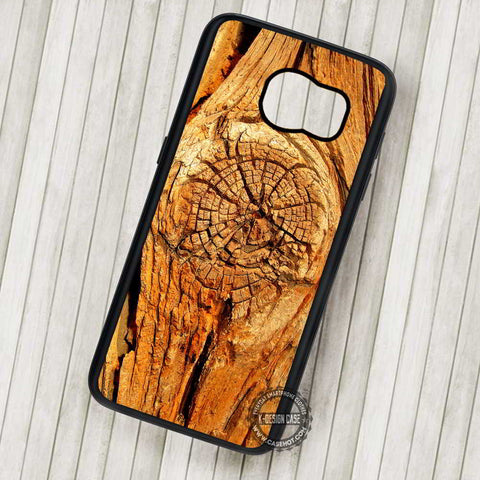 Wood Style Realistic Floral Unique Texture - Samsung Galaxy S7 S6 S5 Note 7 Cases & Covers