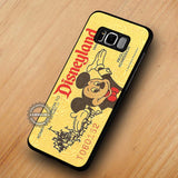 Yellow Disneyland Ticket Mickey Mouse - Samsung Galaxy S8 Case