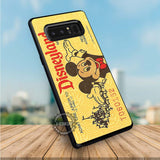 Yellow Disneyland Ticket Mickey Mouse - Samsung Galaxy Note 8 Case