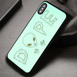Yes I'm Weird Alien Dope - iPhone X Case