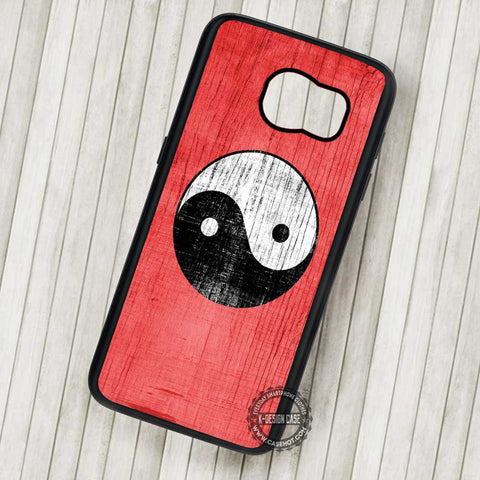 Yin Yang Logo with Red Background - Samsung Galaxy S7 S6 S5 Note 7 Cases & Covers