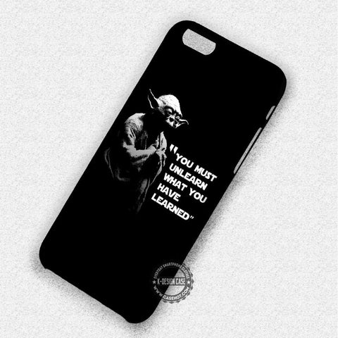 Yoda Star Wars Quote Jedi - iPhone 7 6 5 SE Cases & Covers