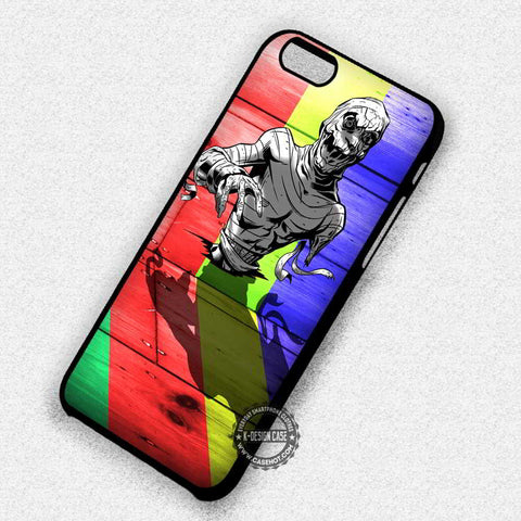 Zombie Colorful Wood Art - iPhone 7 6s 5c 4s SE Cases & Covers