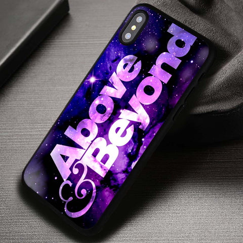 Above And Beyond Logo New York Nebula Purple Supernatural - iPhone X Case