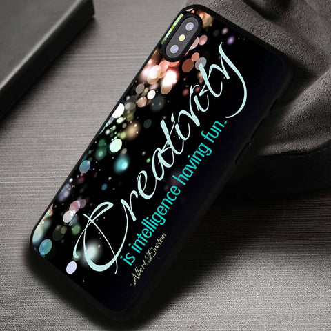 Albert Einstein Creatifity Quote - iPhone X Case