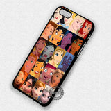 All Face Princess Snow White To Elsa - iPhone 7 6s 5c 4s SE Cases & Covers