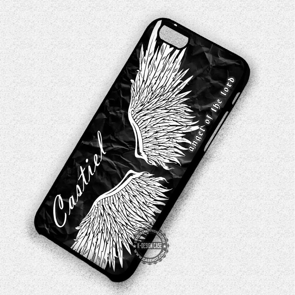 new photos fad1d 6381c Angel Wings Supernatural Castiel - iPhone 7 6 5 SE Cases & Covers