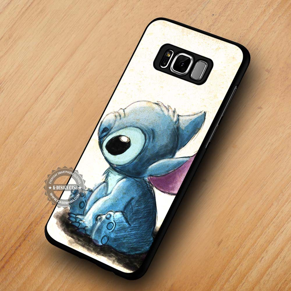 brand new 932fe 7497b Art Drawing Cute Animal Lilo and Stitch - Samsung Galaxy S8 S7 S6 Note 8  Cases & Covers #SamsungS8