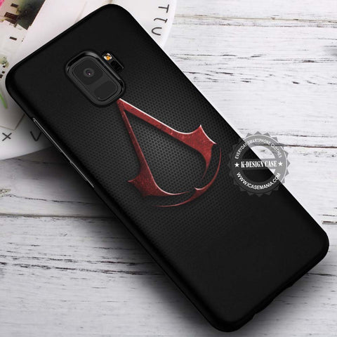 Assassin Creed Dark Logo - Samsung Galaxy S8 S7 S6 Note 8 Cases & Covers #SamsungS9