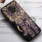 Aztec Elephant on Black Tattoo - Samsung Galaxy S8 S7 S6 Note 8 Cases & Covers #SamsungS9