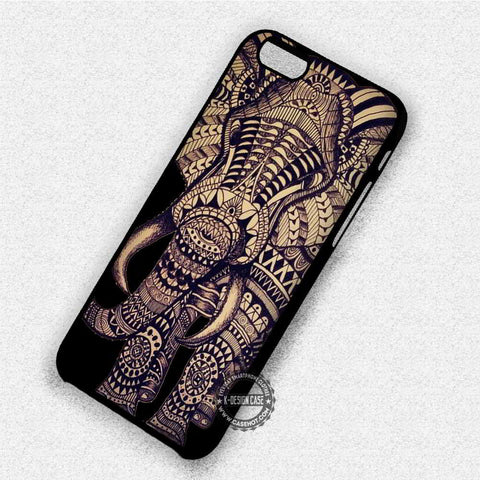 Aztec Elephant on Black - iPhone 8+ 7 6s SE Cases & Covers