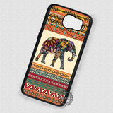 Aztec Patterned Animal Elephant - Samsung Galaxy S7 S6 S4 Note 7 Cases & Covers