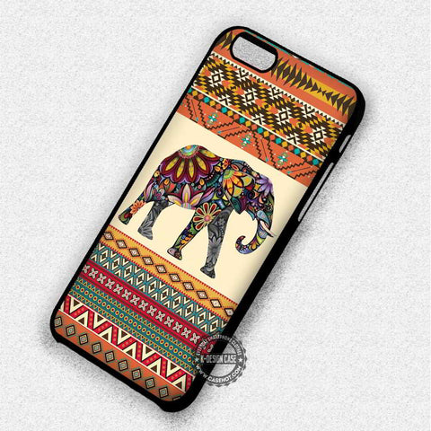 Aztec Patterned Animal Elephant - iPhone 7 6 5 SE Cases & Covers