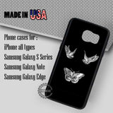 Birds and Butterfly Tattoo - Samsung Galaxy S7 S6 S5 Note 5 Cases & Covers