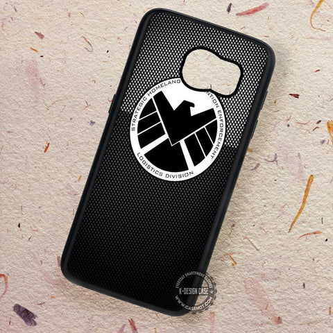 Black Agent Logo Shield - Samsung Galaxy S7 S6 S5 Note 7 Cases & Covers
