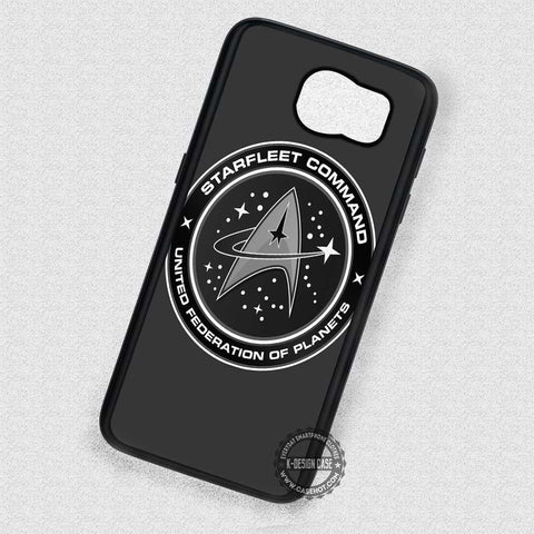 Black and White Symbol Star Trek - Samsung Galaxy S8 S7 S6 Note 8 Cases & Covers