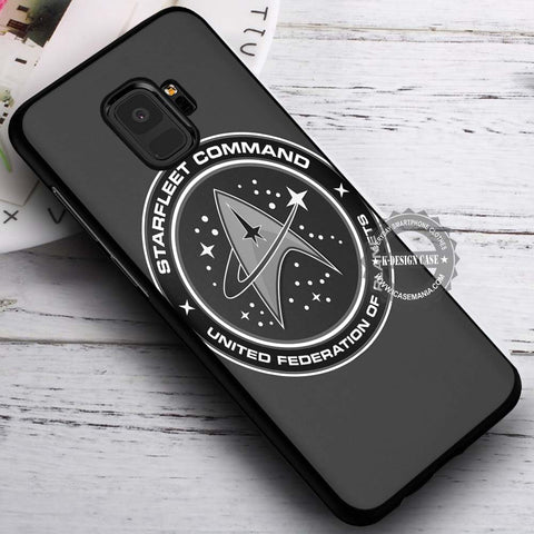 Black and White Symbol Star Trek - Samsung Galaxy S8 S7 S6 Note 8 Cases & Covers #SamsungS9