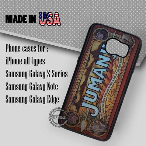 Board Game Jumanji - Samsung Galaxy S7 S6 S5 Note 5 Cases & Covers