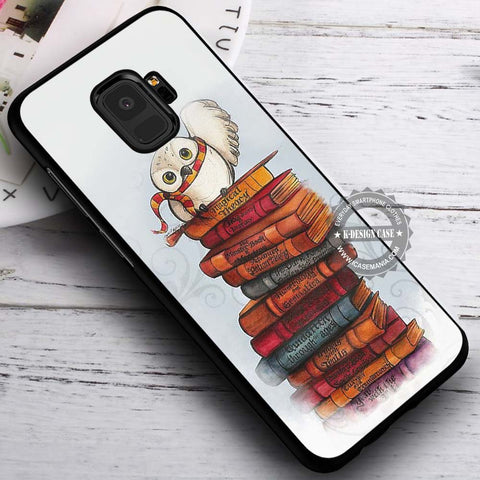 Books with Owl Harry Potter - Samsung Galaxy S8 S7 S6 Note 8 Cases & Covers #SamsungS9