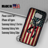 Camo Browning America Flag - Samsung Galaxy S7 S6 S5 Note 5 Cases & Covers