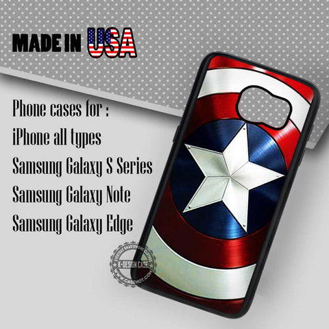 Captain America's Shield - Samsung Galaxy S7 S6 S5 Note 5 Cases & Covers
