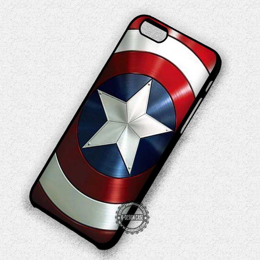 reputable site ccabb c22ab Captain America's Shield The Avengers - iPhone X 8+ 7 6s SE Cases & Covers