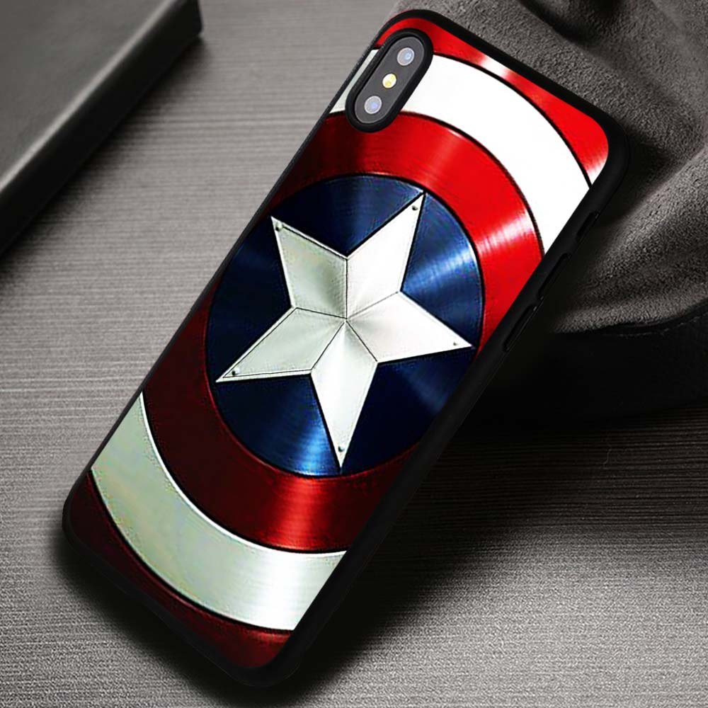best service 1cba0 6029b Captain America's Shield The Avengers - iPhone X 8+ 7 6s SE Cases & Covers  #iPhoneX