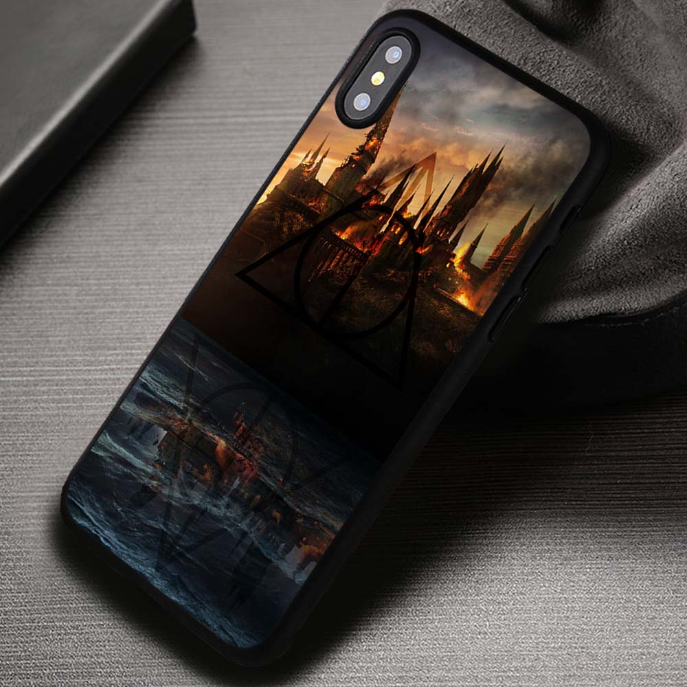 best sneakers d5cf9 7c0c2 Castle In Fire Harry Potter - iPhone X 8+ 7 6s SE Cases & Covers #iPhoneX