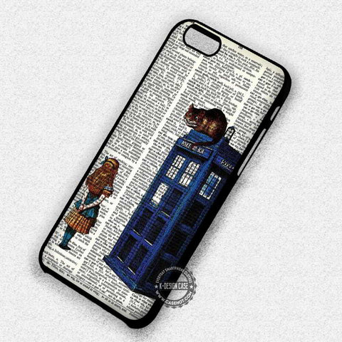 Chesire On Police Box Alice In Wonderland - iPhone 7 6s 5c 4s SE Cases & Covers