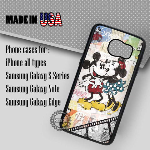 Classic Mouse Couple - Samsung Galaxy S8 S7 S6 Note 8 Cases & Covers