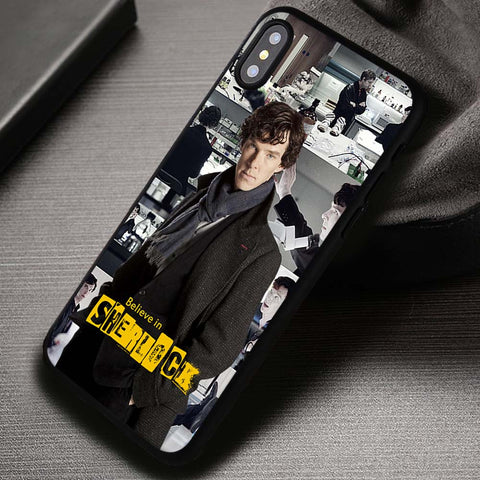 Collage Believe Quotes Detective Sherlock Holmes - iPhone X Case