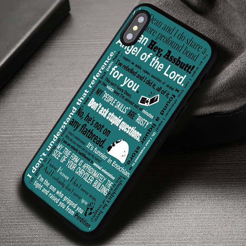 Quote Castiel Collage - iPhone X Case