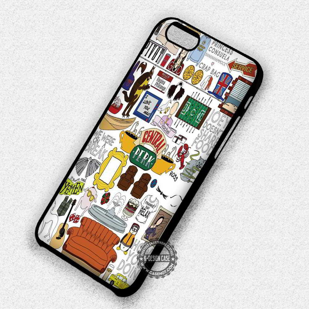 info for 5b2db e3cce Collage Quote Central Perk Friends TV Show - iPhone 7 6 5 SE Cases & Covers