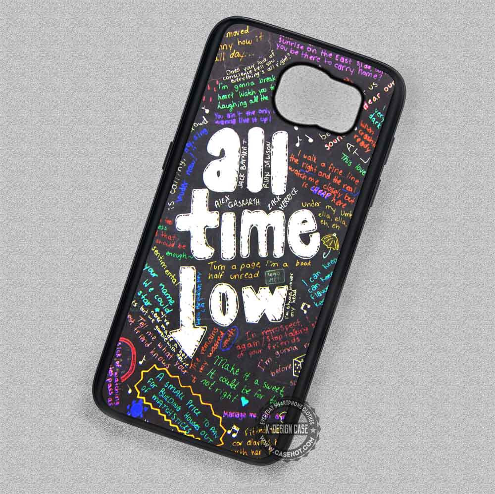 Colorful Quotes Art All Time Low - Samsung Galaxy S7 S6 S5 Note 7 Cases &  Covers