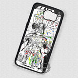 Cool Drawing Splatter Paint Star Wars - Samsung Galaxy S7 S6 S5 Note 5 Cases & Covers