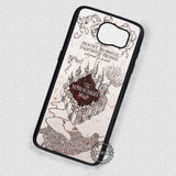 Cool Map Marauder Map Harry Potter - Samsung Galaxy S7 S6 S4 Note 5 Cases & Covers