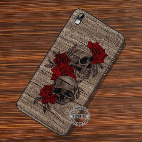 Cool Skull On Wood - LG Nexus Sony HTC Phone Cases and Covers