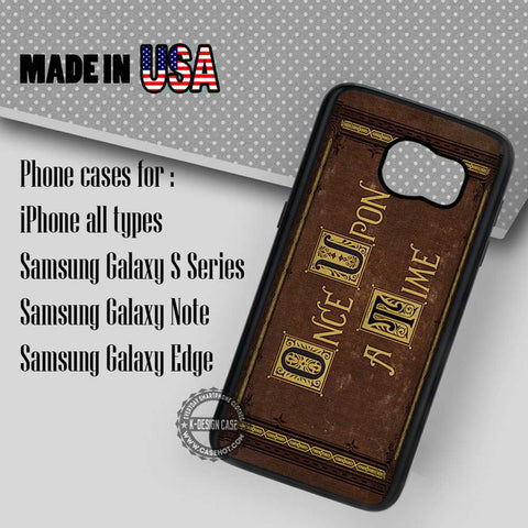 Cover Book Once Upon A Time  - Samsung Galaxy S7 S6 S5 Note 5 Cases & Covers