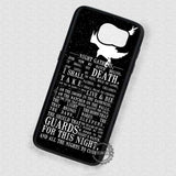 Crow Silhouette Quotes - Samsung Galaxy S7 S6 S4 Note 7 Cases & Covers
