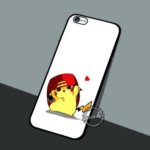 Pikachu Wearing Red's - iPhone 7 6 5 SE Cases & Covers