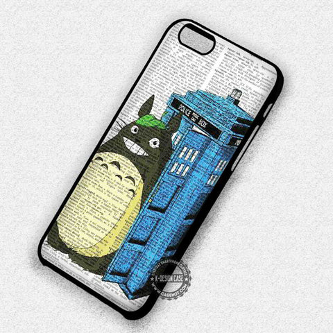 Cute in Police Box Cat Tardis on Newspaper - iPhone 7 6 Plus 5c 5s SE Cases & Covers