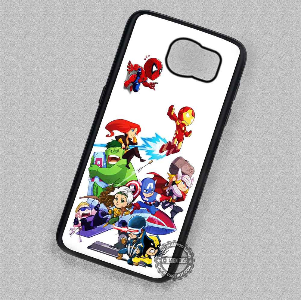 buy online fbae7 083b8 Cute Chibi Marvel Heroes Comic - Samsung Galaxy S7 S6 S5 Note 7 Cases &  Covers
